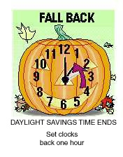 Fall Back - Daylight Saving times ends this Sunday morning